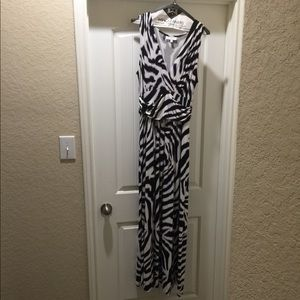 Jennifer Lopez zebra print maxi dress